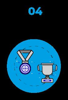 hochwertig icon, blau